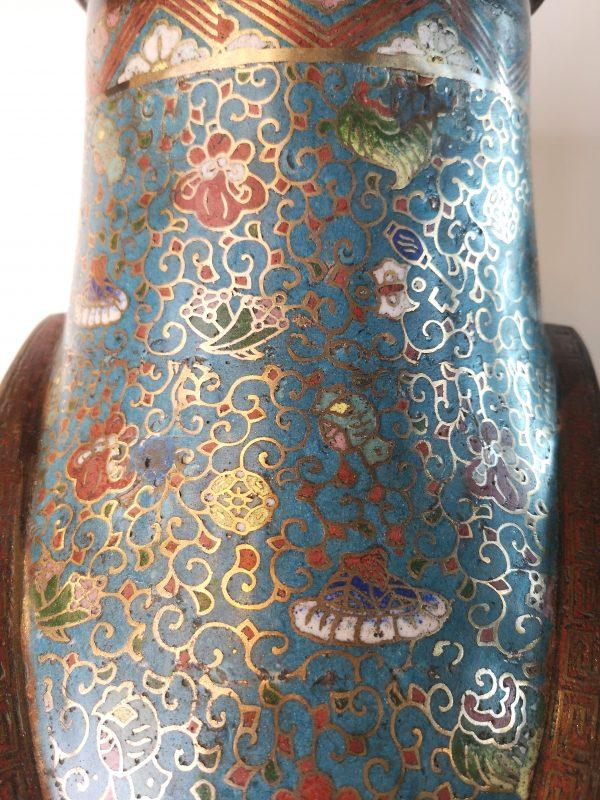 Antikvarinė kiniška cloisonne vaza