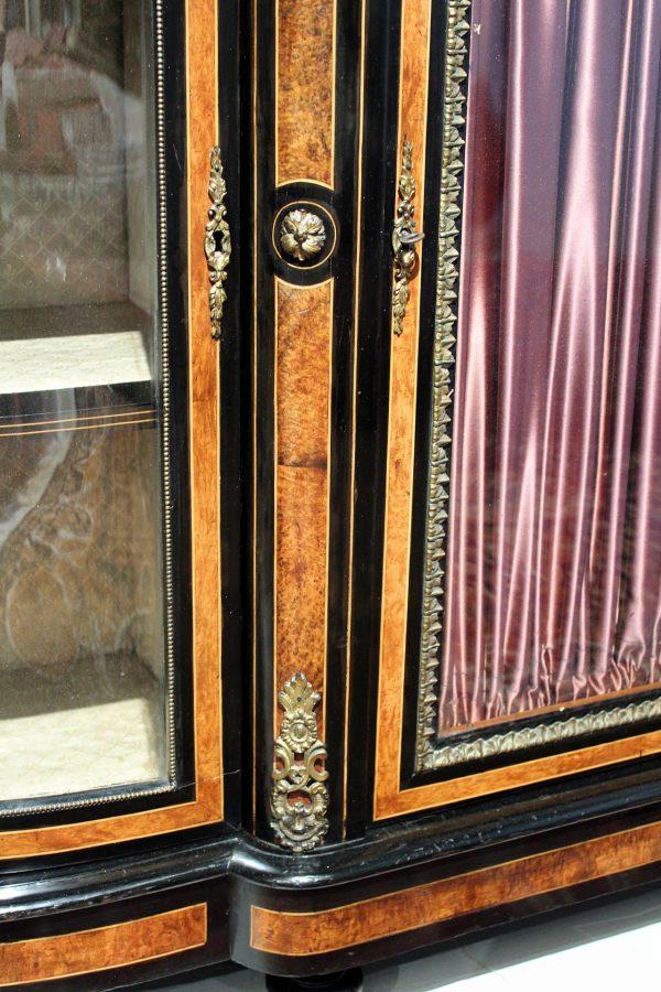 Antikvarinė Napoleon III stiliaus vitrina