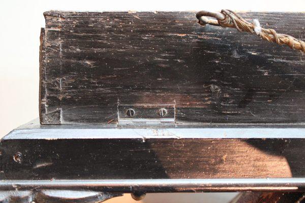 Olandiškas antikvarinis paveikslas su laikrodžiu