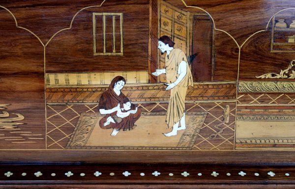 Orientalistinė palisandro skrynia