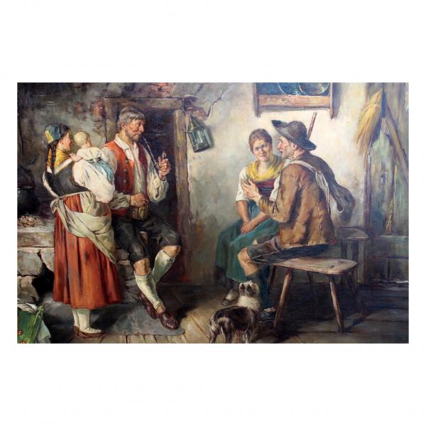 """Adolf Nauer paveikslas """"Svečias"""""""
